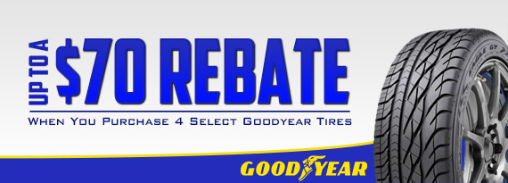 Goodyear Rebate - Up to $70